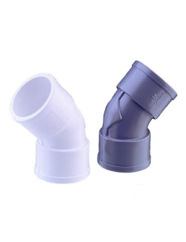 CODO PVC GRIS HH 45º 40MM...