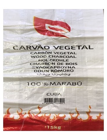 CARBON SACO 15KG.(APROX) CUBANO MARABU