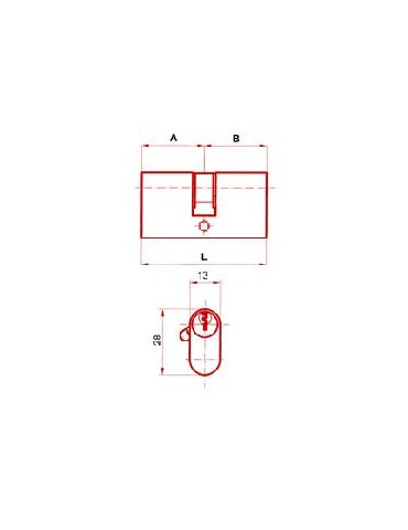 CILINDRO OVAL LATON EX.10,5MM 27/27 9C002727L
