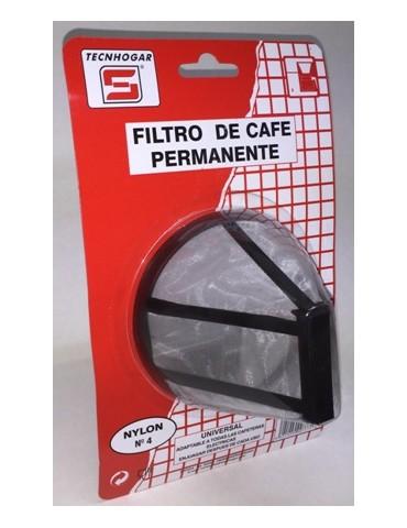 FILTRO CAFE PERMANENTE NYLON Nº4 777