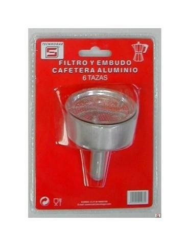 FILTRO Y EMBUDO CAFETERA 6 TZ. TECNHOGAR
