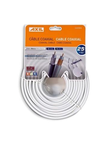 CABLE COAXIAL 19 VATC BCO. -25M- CA0728E  CARTÓN COLGABLE
