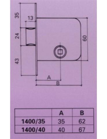 PICAPORTE PASO HL 40MM 4100-40 C/CUA.