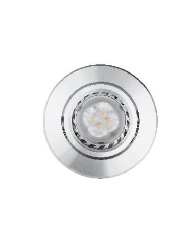 LED EMPOTRAB.REDOND.GIGCL10GU-RS-40.4W 240LM CALID GU10 PLAT