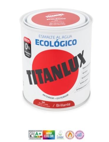 PINT. TITANLUX ESMALTE ECO BRILL.750ML VERDE JAD.