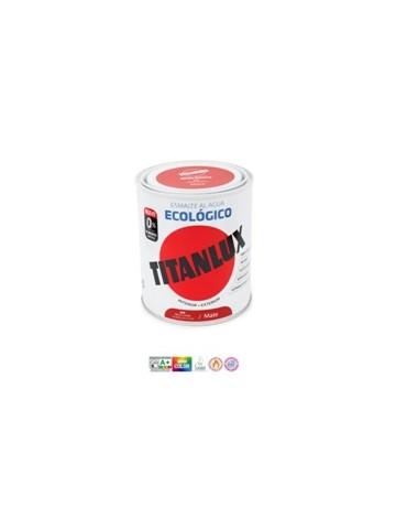 PINT. TITANLUX ESMALTE ECO MATE 750ML AZUL IND,