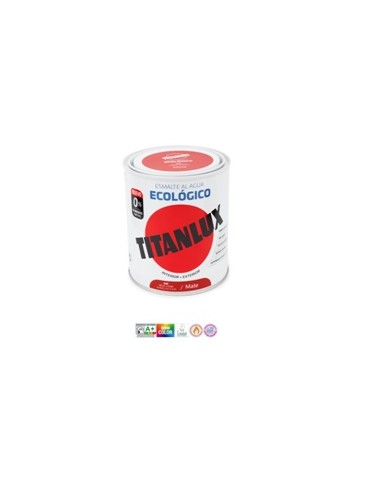 PINT. TITANLUX ESMALTE ECO MATE 2,5L NEGRO