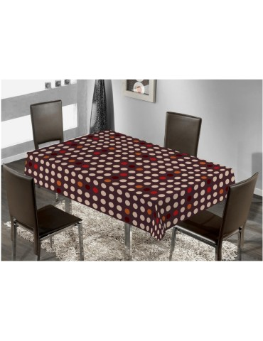 MANTEL TEXTIL ANTIMAN.TROPICO 42318 MARRON.1.40X1.40