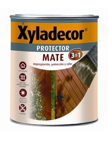 CAJA DE 6 XYLADECOR PROT. MATE 750ML CAOBA