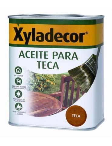 CAJA DE 6 XYLADECOR ACEITE TECA 750ML INCOLORO