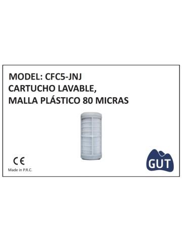 """CARTUCHO  5"""" CFC5-JNJ 80MICRAS MALLA LAVABLE"""