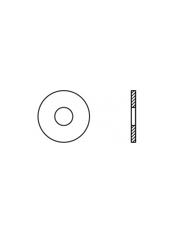 CAJA DE 100 ARANDELA PLANA ANCHA INOX M16 9021 A2