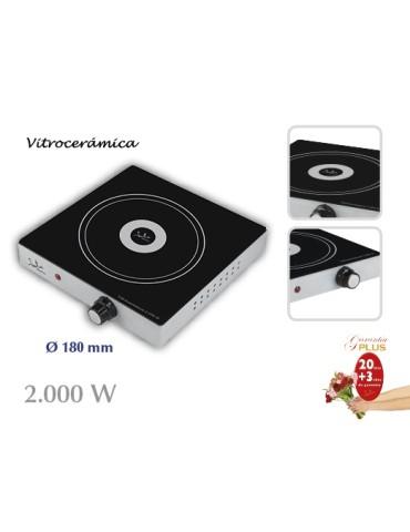 COCINA VITROCERAMICA 1 PLACA 2000W V139